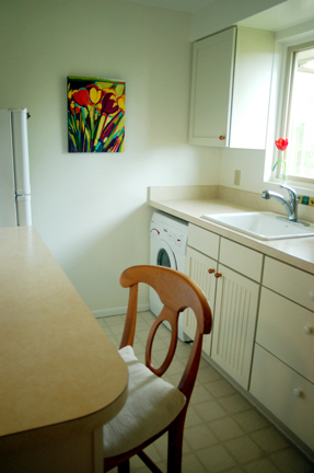Final result: A beautiful small kitchen that takes advantage of all available space.