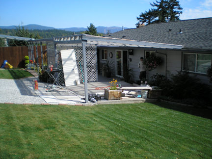 Before - View to the Pergola Edge