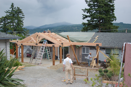 Work In Progress - Framing the New Roof