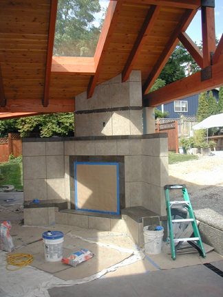 Work In Progress - Finishing the Outdoor Fireplace