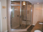 tile, floor to ceiling shower glass