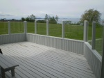 Decking with Glass Panel Railing
