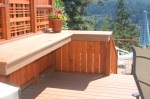 New deck with countertop and privacy screen