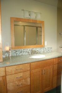 Lav cabinet & backsplash