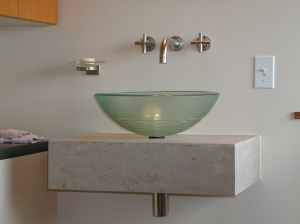 Beautiful wall mounted sink detail