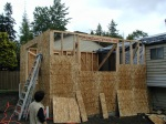 Home addition in progress, Rose Construction Inc job