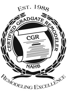 Certified Graduate Remodeler, from NAHB