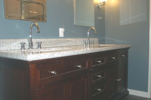 Built-in lav cabinet and counter