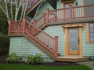 Well designed and built outside stairs can add to the beauty of the home
