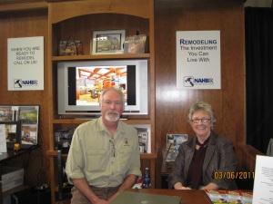 Pat Rose of Rose Construction Inc and Ken Miller of Steel Magnolia
