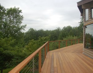 Beautiful deck with view!