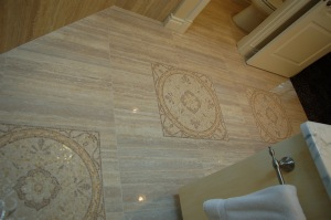 Custom tile flooring
