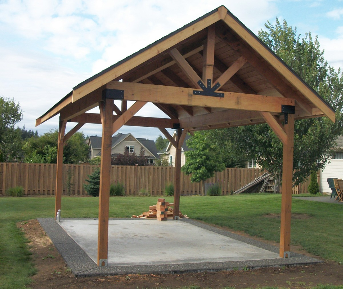 Picnic pavilion notes from the field for Pergolas para jardin