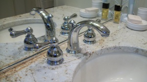 lave faucet - you use this more than any other fixture in the bathroom