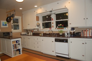 Traditional painted kitchen cabinets