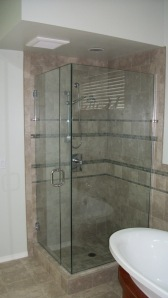 Glass shower surround