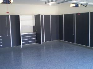 garage made into show room!